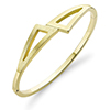 Offord & Sons | 9ct gold geometric hinged bangle | BN333