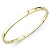 Offord & Sons | 9ct gold oval hinged bangle | BN373