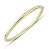 Offord & Sons | 9ct gold oval hinged bangle | BN376