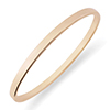 Offord & Sons | 9ct rose gold hinged bangle | BN389