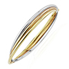 Offord & Sons | 9ct three colour hinged bangle | BN444