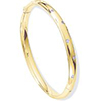 Offord & Sons |18ct yellow gold diamond set bangle
