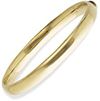 9ct. Oval Bangle with Polished Domed Band.