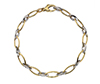 Offord & Sons | 9ct yellow and white gold Echo link bracelet | GWECHD07