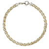 Offord & Sons | 9ct yellow and white gold spiga link bracelet | RWSP10007