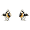 Offord & Sons Saturno silver enamelled Bee cufflinks GM193