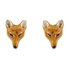Offord & Sons Saturno silver enamelled Fox Head cufflinks GM22