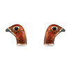 Offord & Sons Saturno silver enamelled Grouse cufflinks GM193
