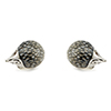 Offord & Sons Saturno silver enamelled Hedgehog cufflinks GM127
