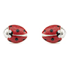 Offord & Sons Saturno silver enamelled Ladybird cufflinks GM193