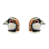 Offord & Sons Saturno silver enamelled Partridge cufflinks GM193