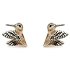 Offord & Sons Saturno silver enamelled Woodcock Snipe cufflinks GM129