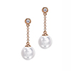Offord & Sons | 18ct Diamond and Pearl drop earrings