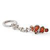 Offord & Sons | Saturno Silver Enamelled Nemo Clown Fish Key Ring
