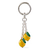 Offord & Sons | Saturno Silver Enamelled Lemons Key Ring