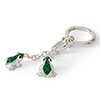 Offord & Sons | Saturno Silver Enamelled Frogs Key Ring