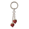Offord & Sons | Saturno Silver Enamelled Strawberries Key Ring