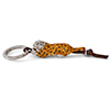 Offord & Sons | Saturno Silver Enamelled Leopard Key Ring