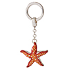 Offord & Sons | Saturno Silver Enamelled Star Fish Key Ring