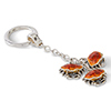 Offord & Sons | Saturno Silver Enamelled Crab Key Ring