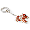 Offord & Sons | Saturno Silver Enamelled Octopus Key Ring