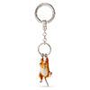 Offord & Sons | Saturno Silver Enamelled Ginger Cat Key Ring