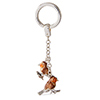 Offord & Sons | Saturno Silver Enamelled Robins Key Ring