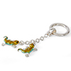 Offord & Sons | Saturno Silver Enamelled Geckos Key Ring