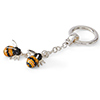 Offord & Sons | Saturno Silver Enamelled Bumblebees Key Ring