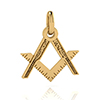 Offord & Sons | Masonic square and compass pendant
