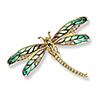 Offord & Sons | Nicole Barr 18ct & Enamel Dragonfly Brooch
