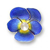 Offord & Sons | Nicole Barr silver & enamel Pansy brooch