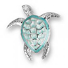 Offord & Sons | Nicole Barr silver & enamel Turtle Brooch