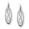 Offord & Sons | Nicole Barr silver & enamel Infinity earrings