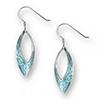 Offord & Sons | Nicole Barr silver & enamel Marquise Earrings