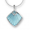 Offordandsons | Nicole Barr silver enamelled Fan necklace