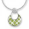 Offord & Sons | Nicole Barr silver & enamel Quilted Circle Necklace