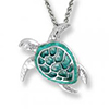 Offord & Sons | Nicole Barr silver & enamel Turtle Necklace