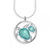 Offordandsons | Nicole Barr silver enamelled Turtles necklace