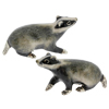 Offord & Sons | Saturno silver enamelled Badgers