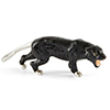 Offord & Sons | Saturno Silver Enamelled Black Panther