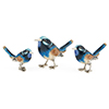 Offord & Sons | Saturno Silver Enamelled Blue Birds