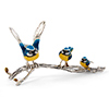 Offord & Sons | Saturno Silver Blue Tit birds on a branch