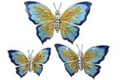 Offord & Sons | Saturno silver enamel Butterflies