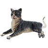 Offord & Sons | Saturno silver and enamelled large cat
