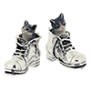 Offord & Sons | Saturno silver and enamelled cats in boots