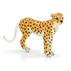Offord & Sons | Saturno Silver Enamelled Cheetah