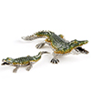 Offord & Sons | Saturno Silver Enamelled Crocodiles