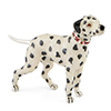Offord & Sons | Saturno Silver Enamelled Dalmation Dog