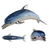 Offord & Sons   Saturno silver enamelled Dolphins